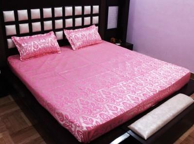 Milan Polycotton, Jacquard, Silk Motifs King sized Double Bedsheet
