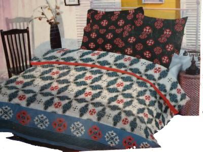 Sleepwell Cotton Geometric Double Bedsheet