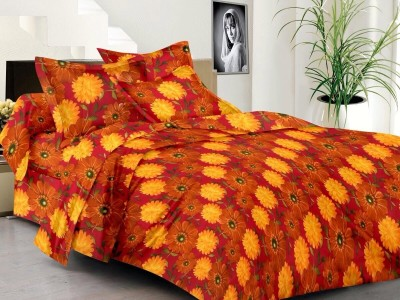 Home Creations Cotton Floral Double Bedsheet
