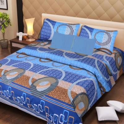 Presto Cotton Geometric Double Bedsheet