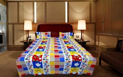 Shoppeholics Cotton Printed Double Bedsheet