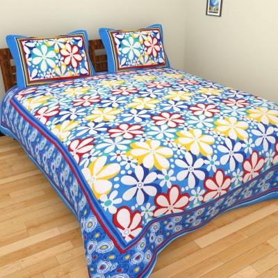 The Handicraft House Cotton Floral Single Bedsheet