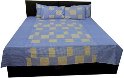 AZ Cotton Checkered Double Bedsheet