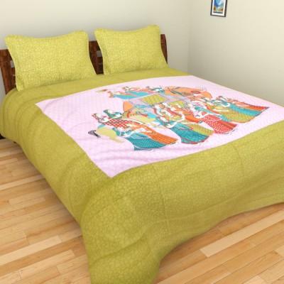 Rajkruti Cotton Animal Double Bedsheet
