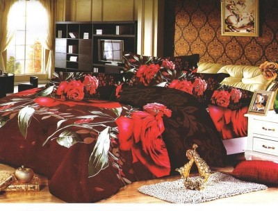 Stylistry Polycotton Printed Double Bedsheet