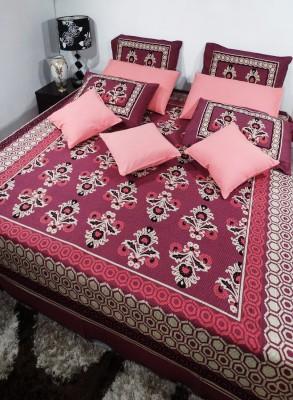 Heritagefabs Cotton Plain Queen sized Double Bedsheet