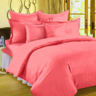Ahmedabad Cotton Cotton, Satin Striped Single Bedsheet