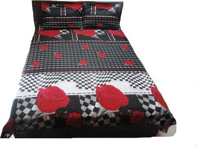 Amk Home Decor Polycotton Floral Double Bedsheet