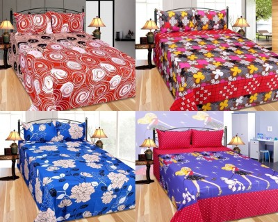 Furnishing Zone Polycotton Floral Double Bedsheet