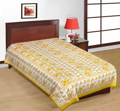 RajLaxmi Cotton Printed Single Bedsheet