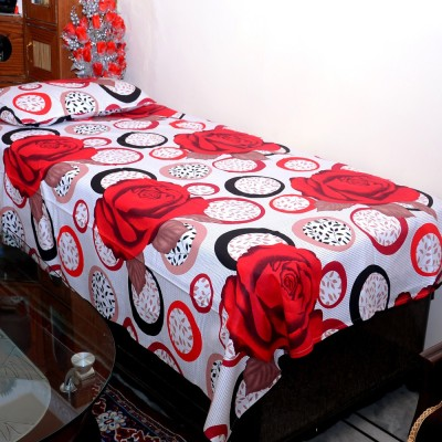Balaji Texo Fab Cotton Floral Single Bedsheet
