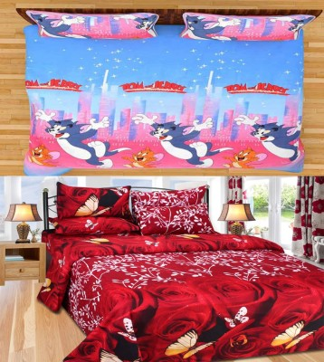 Rashi Homes Cotton Cartoon Double Bedsheet