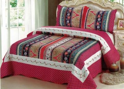 Serico Cotton Striped Double Bedsheet
