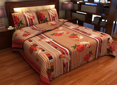 INDIAeCRAFT Cotton Printed Double Bedsheet