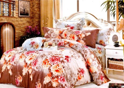 Thiya Fabric Cotton Floral King sized Double Bedsheet