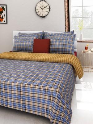 Rose Petal Cotton Striped Double Bedsheet