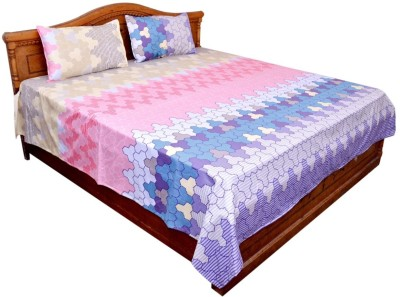 GraceDiva Polycotton Geometric Double Bedsheet