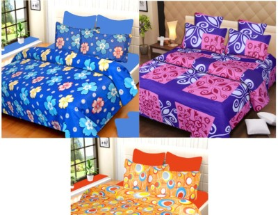 H2 Cotton Abstract Double Bedsheet