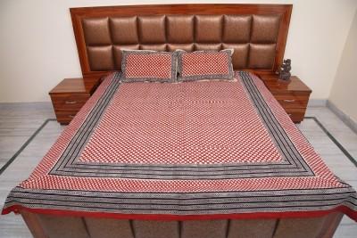 Exkklusiv Rajasthan Cotton Geometric Double Bedsheet