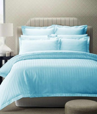 Ridhaan Cotton Striped Double Bedsheet