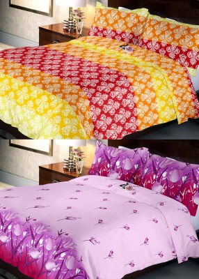 Indien Casa Polycotton Floral Queen sized Double Bedsheet