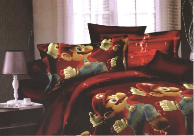 SKILIN Polycotton Printed Double Bedsheet