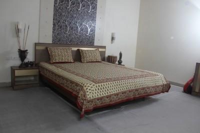 Jaipur Textile Hub Cotton Floral Double Bedsheet