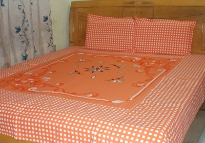 Shri Creation Cotton Embroidered Double Bedsheet