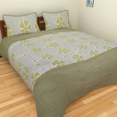 Brida Cotton Floral Double Bedsheet