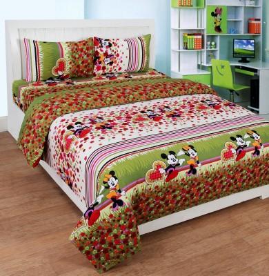 SHREEJEE Polycotton Cartoon Double Bedsheet