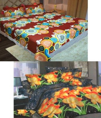 Homefab India Cotton Floral Double Bedsheet