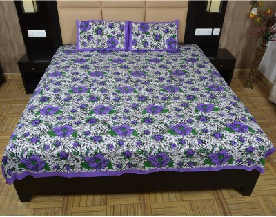 Maurvison Cotton Floral Double Bedsheet