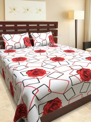 mahirfurnishing Cotton Floral Double Bedsheet