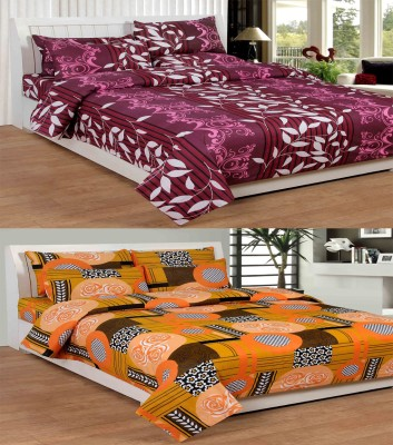 Mirchifry Cotton Printed Double Bedsheet