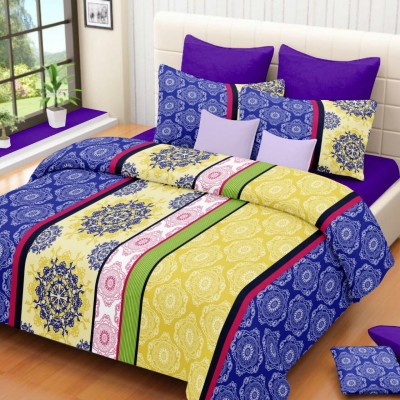 Lissome Cotton Geometric Double Bedsheet