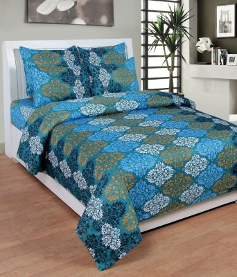 Mesmeric Polycotton Printed Queen sized Double Bedsheet
