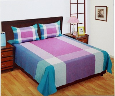 WG Fabs Cotton Striped King sized Double Bedsheet