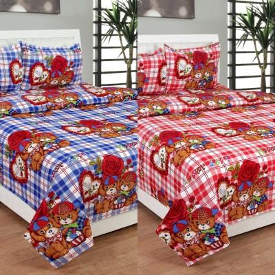 Skytex Polycotton Cartoon Double Bedsheet
