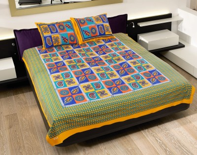 N DeCor Cotton Abstract Double Bedsheet