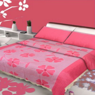 Creativehomes Cotton Floral Double Bedsheet