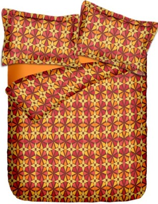 Pipal Cotton Geometric Double Bedsheet