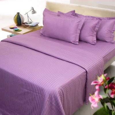 Mark Home Cotton Striped Single Bedsheet