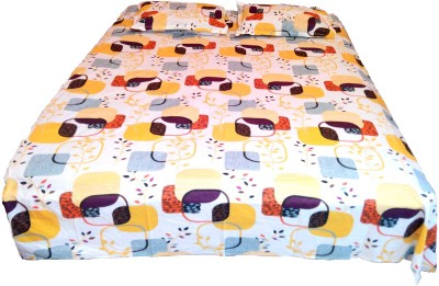 Addyz Cotton Geometric Double Bedsheet