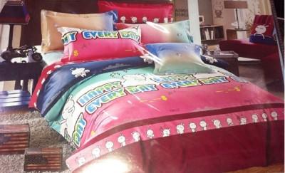 Ruhi Home Furnishing Cotton Abstract Single Bedsheet