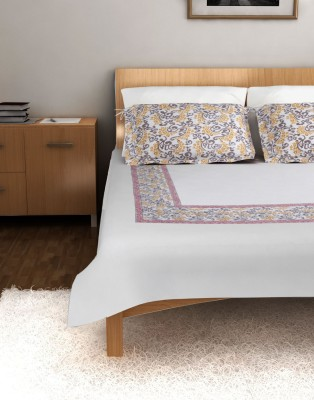 Ratan Jaipur Cotton Abstract Double Bedsheet