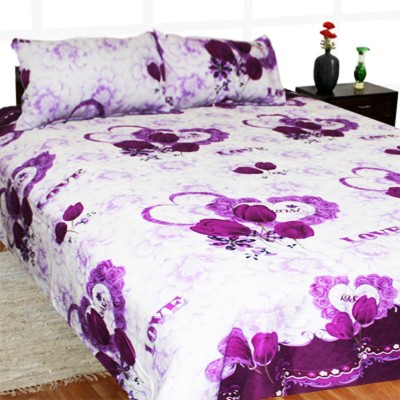 Madhavs Polycotton Floral Double Bedsheet