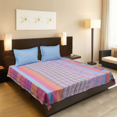 Sofitel Cotton Linen Blend Striped Queen sized Double Bedsheet