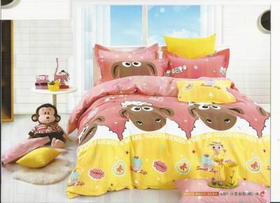 Shaun The Sheep Cotton Cartoon Double Bedsheet