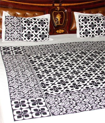 Designz Cotton Checkered Double Bedsheet