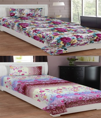 Supreme Home Collective Cotton Floral Single Bedsheet